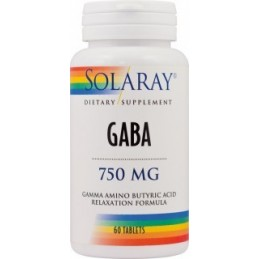 GABA 750mg 60 capsule Solaray Secom