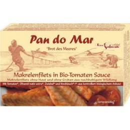 Macrou file in sos de tomate bio 120g Pan do Mar