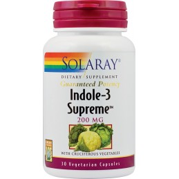 INDOLE-3-SUPREME 30 capsule Solaray SECOM