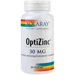 OPTIZINC 30mg 60cps Solaray SECOM