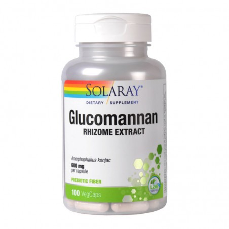 Glucomannan 600mg 100 capsule vegetale SOLARAY  SECOM