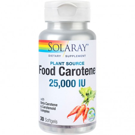 Food Carotene™ 25000UI 30 capsule mois  SOLARAY  SECOM
