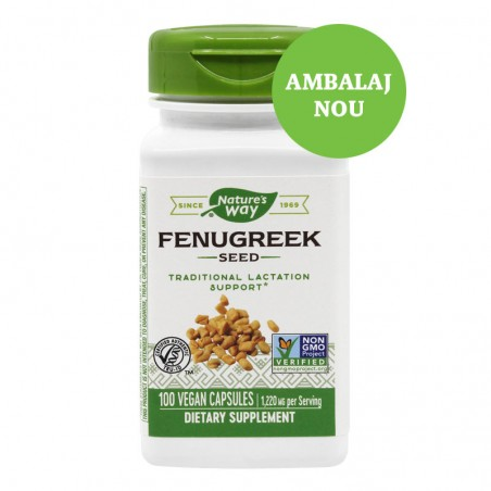 Fenugreek (Schinduf) 610mg 100 capsule vegetale  SOLARAY  SECOM