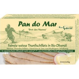 Ton in ulei de masline bio 120g Pan do Mar